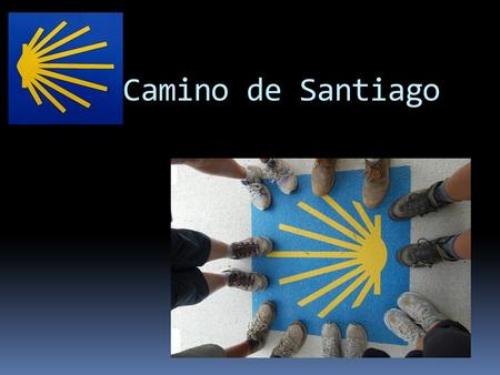 El Camino de Santiago. Un mapa del Camino Frances A map of the French route.