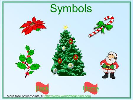 Symbols BackHome More free powerpoints at