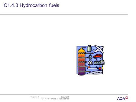 Version 2.0 Copyright © AQA and its licensors. All rights reserved. C1.4.3 Hydrocarbon fuels.
