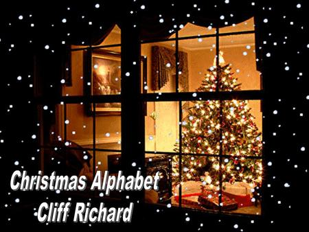 Christmas Alphabet Cliff Richard.