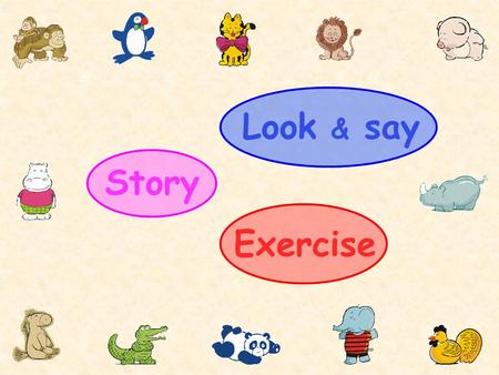 Exercise Look & say Story It is my pet rhino.