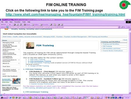 Click on the following link to take you to the FIM Training page