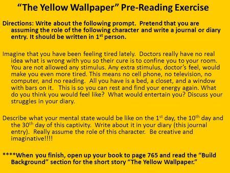 The Yellow Wallpaper Theme Vs Motif Theme A Topic