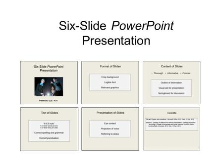 Six-Slide PowerPoint Presentation Presented by B. Ruff.