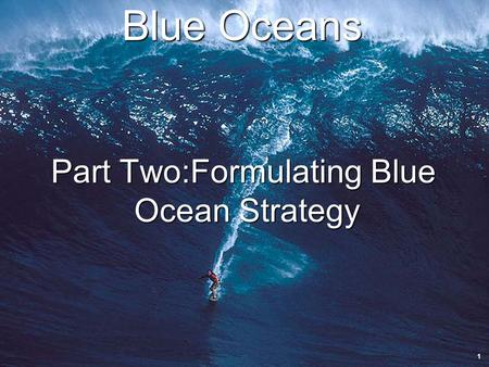 Innovation.uccs.edu B ACHELOR OF I NNOVATION ™ Blue Oceans Part Two:Formulating Blue Ocean Strategy 1.