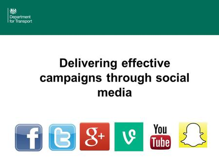 Delivering effective campaigns through social media.