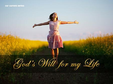"Changed by Grace (Part 3 of ""God's Will for my Life"")"