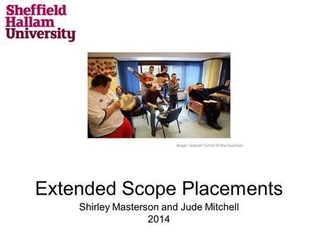 Extended Scope Placements Shirley Masterson and Jude Mitchell 2014 Image: Graham Turner for the Guardian.
