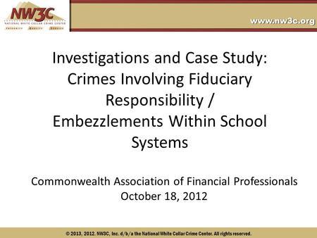 White collar crimes case study