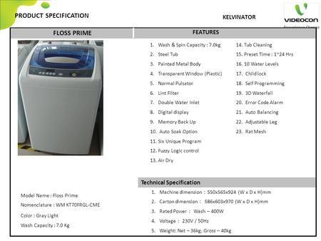 SAMSUNG Washing Machine - ppt download