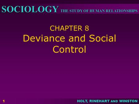chapter 8 deviance crime and social control Chapter 8: deviance and social control 9th - 12th in this deviance and social control worksheet, students respond to 14 fill in the blank questions and 15 matching questions pertaining to crime and how societies attempt to control it.