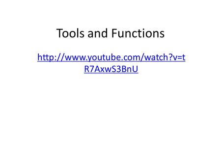 Tools and Functions  R7AxwS3BnU.