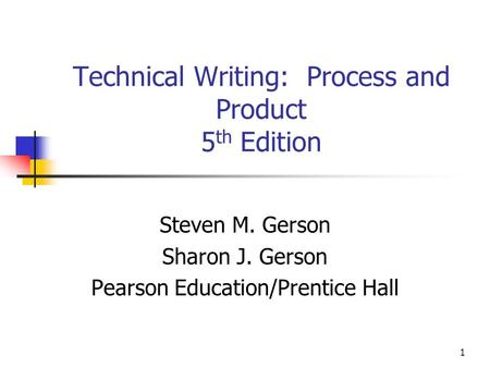 Technical Writing: Process and Product 5th Edition
