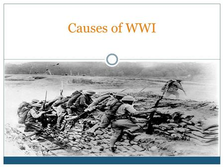 Causes of WWI. Vocabulary Militarism: the build up by countries of military goods, equipment and troops Alliances: agreements between countries swearing.
