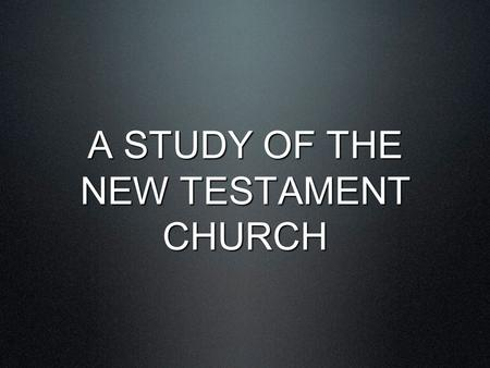 "A STUDY OF THE NEW TESTAMENT CHURCH. 14 But Peter, taking his stand with the eleven, raised his voice and declared to them: ""Men of Judea and all you."