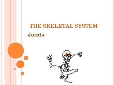 THE SKELETAL SYSTEM Joints.