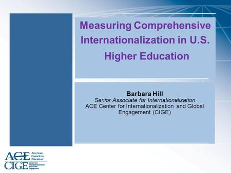 Measuring Comprehensive Internationalization in U.S.
