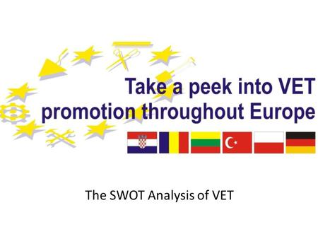 The SWOT Analysis of VET