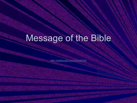 Message of the Bible