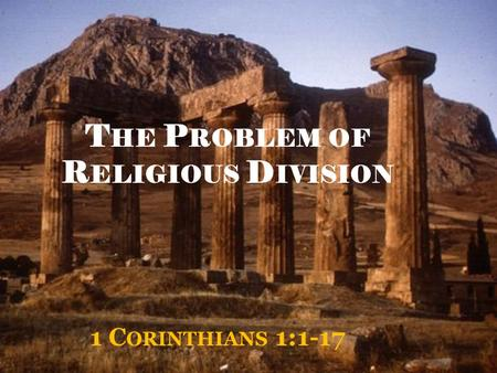 The Problem of Religious Division