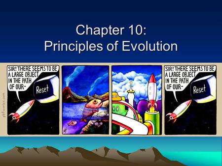 Chapter 10: Principles of Evolution
