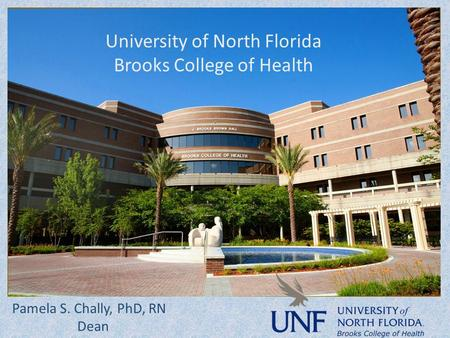 University of North Florida Brooks College of Health Pamela S. Chally, PhD, RN Dean.