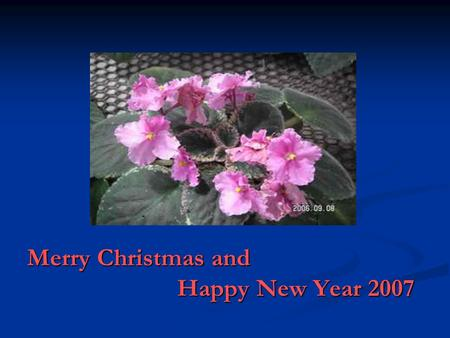 Merry Christmas and Happy New Year 2007 The Beery- Buktenica Developmental Test of Visual-Motor Integration Present by Asst. Prof. Dr. Nuntanee Satiansukpong.