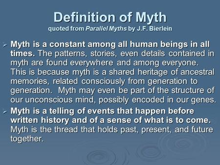 Introduction to Mythology Definitions, What is it, How do we