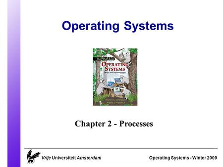 Operating Systems Operating Systems - Winter 2009 Chapter 2 - Processes Vrije Universiteit Amsterdam.