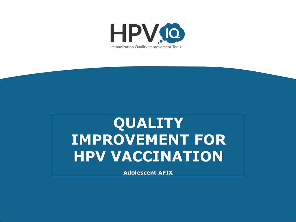 hpv vaccine quality improvement