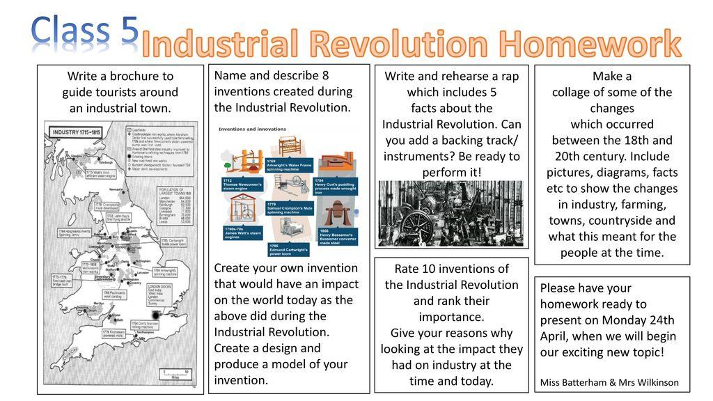 Industrial revolution homework help