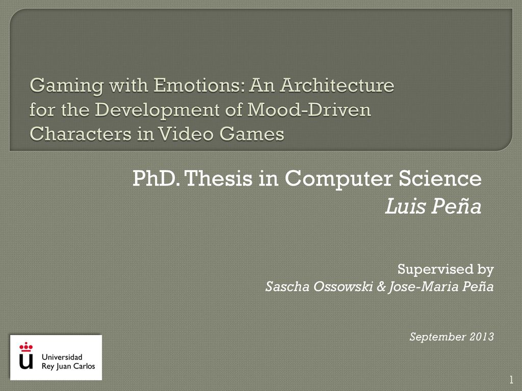 P hd thesis in computer science essay on anthropology of religion