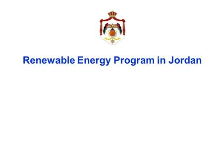 Renewable Energy Program in Jordan