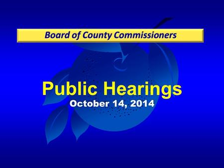 Public Hearings October 14, 2014. Case: CDR-14-04-118 Project: Winegard Road South PD Applicant: Hugh Lokey, Hugh M. Lokey and Associates, Inc. District: