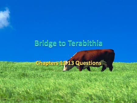 Bridge to Terabithia Chapters 11-13 Questions.