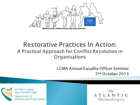 LGMA Annual Equality Officer Seminar 2 nd October 2013.