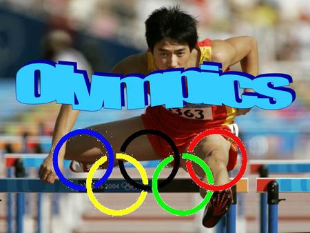 The Olympics include lots of games and sports such as swimming, tennis, cycling and running. People come from all over the world to really see the Olympics.