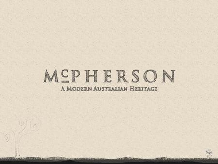 Overview Andrew McPherson - known for his technological innovation Established winery in 1968 Traditional winemaking craftwork with state-of-the-art technology.