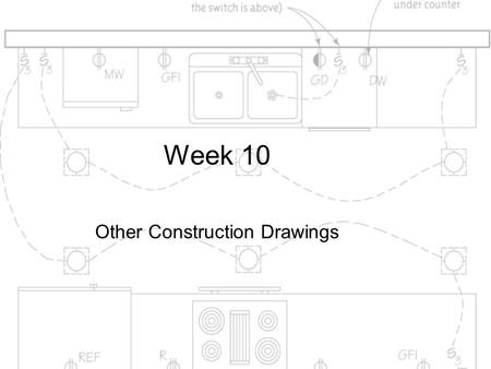 Week 10 Other Construction Drawings. Objective This chapter gives an overview of building systems and the drawings that represent them, specifically demolition,