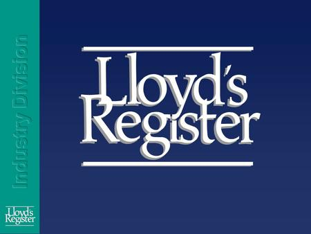 Ensuring Effective Monitoring, Certification and Verification of Emissions by Jed Jones Lloyd's Register.