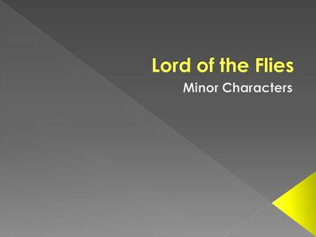 A question about minor characters can often crop up in a an exam. It will ask you to look at the character in question and explain that despite appearing.