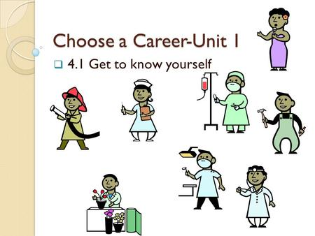 Choose a Career-Unit 1 4.1 Get to know yourself.