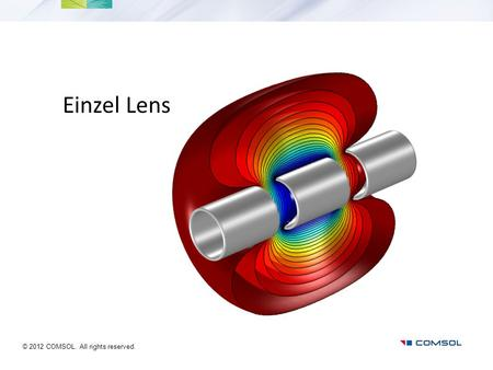 Einzel Lens You can use the heading from the model documentation for the title. © 2012 COMSOL. All rights reserved.