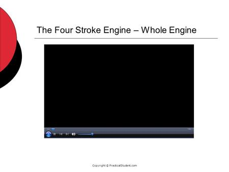 Copyright © PracticalStudent.com The Four Stroke Engine – Whole Engine.