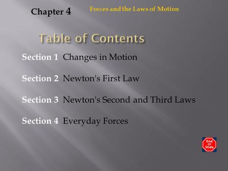 Table of Contents Chapter 4