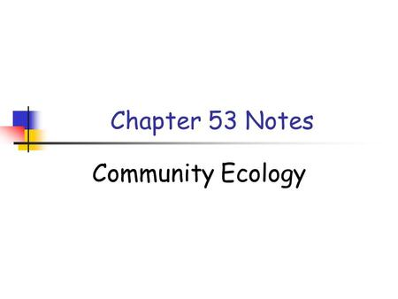 Chapter 53 Notes Community Ecology. What is a Community? A __________ is any assemblage of populations in an area or habitat. Communities differ dramatically.