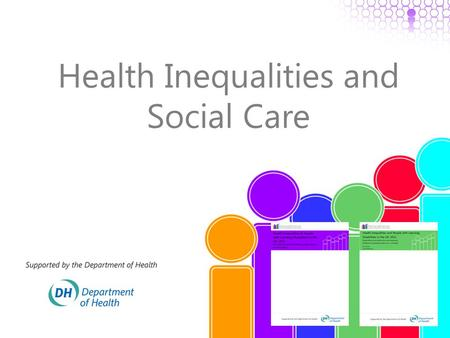Health Inequalities and Social Care. This morning o What do we know about: o The scale and nature of the health inequalities experienced by people with.