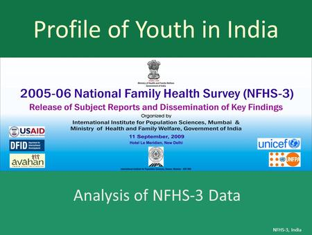 Profile of Youth in India