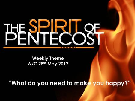 "Weekly Theme W/C 28 th May 2012 ""What do you need to make you happy?"""
