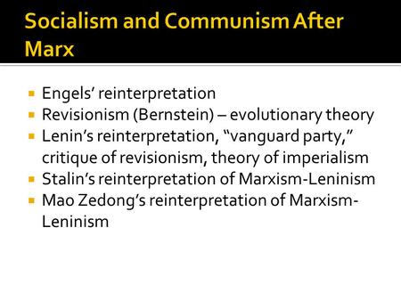 application of marxist theory of socialism To conclude with regards to trade unionism: the relevance of marxism here is to act as a force for socialist ideas amongst the mass of people, to direct them to a new, internationalist proletarian cause—to break the link with bourgeois politics and economism.
